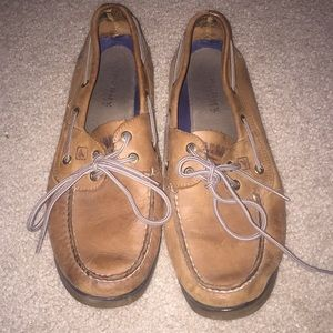 Men's sperry brown boat shoes